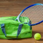 grøn badmintontaske